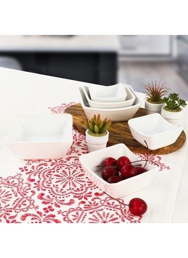 Keramika Keramika Beyaz Sandal Çerezlik/Sosluk 8/10/12 Cm 6 Adet Renkli